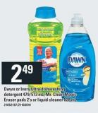 Dawn Or Ivory Ultra Dishwashing Detergent 479/573 Ml - Mr. Clean Magic Eraser Pads 2's Or Liquid Cleaner 828 Ml