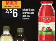 Mutti Sugo Or Passata - 398 mL