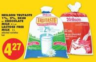 Neilson Trutaste 1% - 2% - Skim or Chocolate Milk 4 L or Lactose Free Milk 2 L