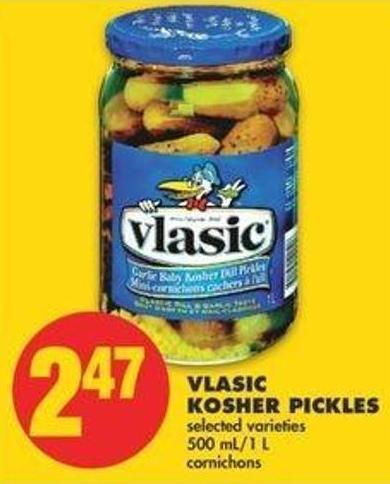 Vlasic Kosher Pickles - 500 Ml/1 L