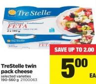 Trestelle Twin Pack Cheese - 190-560g