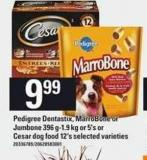 Pedigree Dentastix - Marrobone Or Jumbone - 396 G-1.9 Kg or - 5's Or Cesar Dog Food - 12's