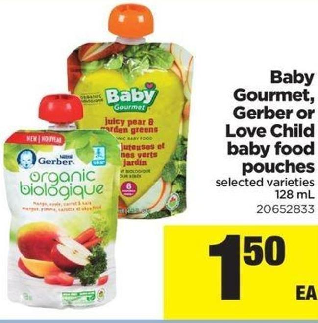 Baby Gourmet - Gerber Or Love Child Baby Food Pouches - 128 Ml