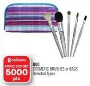 Quo Cosmetic Brushes or Bags