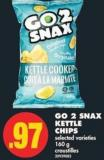 Go 2 Snax Kettle Chips - 160 g