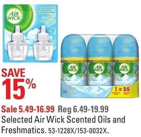 Selected Airwick Scented Oils and Freshmatics