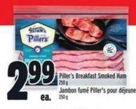 Piller's Breakfast Smoked Ham 250 g