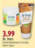 St. Ives Facial Moisturizers & Scrubs