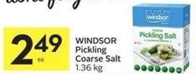 Windsor Pickling Coarse Salt 1.36 Kg