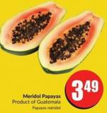 Meridol Papayas Product of Guatemala
