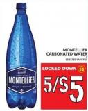 Montellier Carbonated Water - 1 L