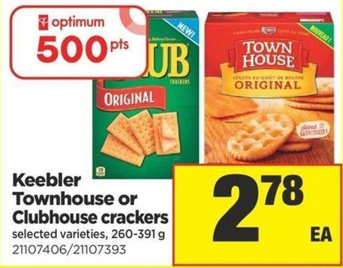 Keebler Townhouse Or Clubhouse Crackers - 260-391 g
