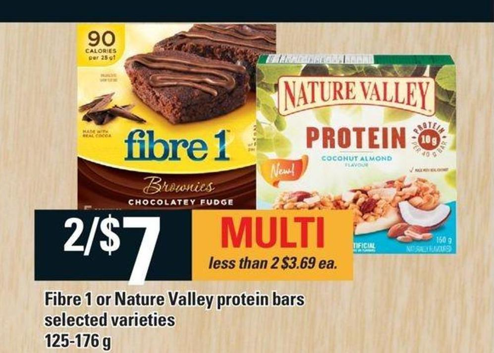 Fibre 1 Or Nature Valley Protein Bars - 125-176 g
