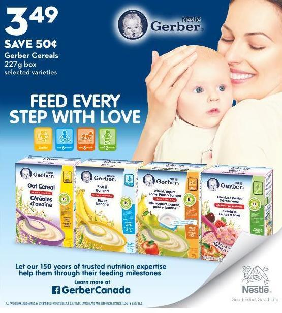 Gerber Cereals 227g Box