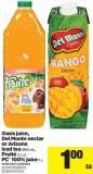 Oasis Juice - Del Monte Nectar Or Arizona Iced Tea - 960 Ml - Fruité - 2 L Or PC 100% Juice - 1 L