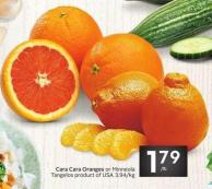 Cara Cara Oranges or Minneola Tangelos Product of USA