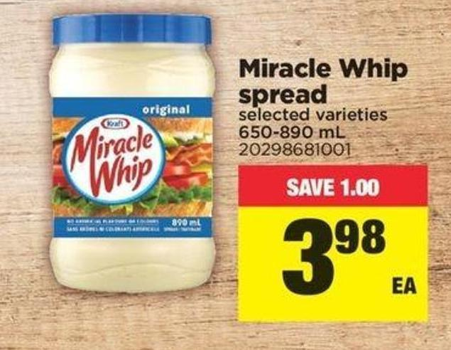 Miracle Whip Spread - 650-890 Ml