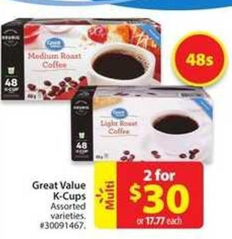 Great Value K-cups