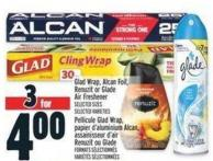 Glad Wrap - Alcan Foil - Renuzit Or Glade Air Freshener