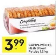 Compliments Hash Brown Patties 1.2 Kg