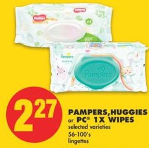 Pampers.huggies Or PC 1x Wipes - 56-100's