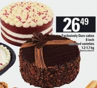 Exclusively Ours Cakes - 8 Inch - 1.2-1.7 Kg