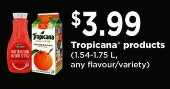 Tropicana Products - 1.54-1.75 L