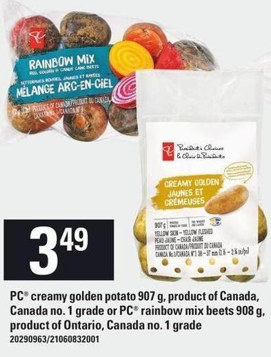 PC Creamy Golden Potato 907 G - Or PC Rainbow Mix Beets 908 G