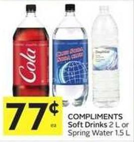 Compliments Soft Drinks