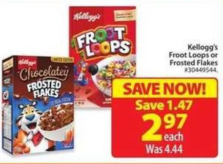 Kellogg's Froot Loops or Frosted Flakes