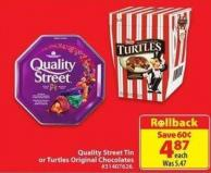 Quality Street Tin or Turtles Original Chocolates