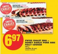 Swiss Chalet Bbq or Honey Garlic Pork Ribs Fully Cooked - 600 g