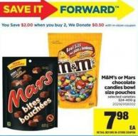 M&m's Or Mars Chocolate Candies Bowl Size Pouches - 324-400 g