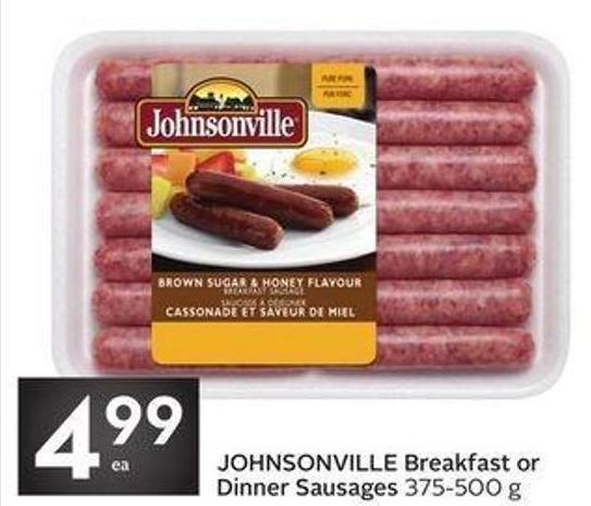 Johnsonville Breakfast or Dinner Sausages