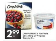 Compliments Pie Shells