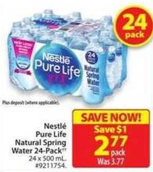 Nestle Pure Life Natural Spring Water 24-pack
