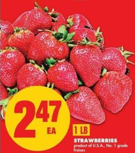 Strawberries. 1 Lb