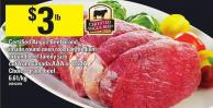 Certified Angus Beef Brand Inside Round Oven Roast Or Medium Ground Beef Family Size Cut From Canada Aaa Or Usda Choice Grade Beef