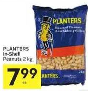 Planters In-shell Peanuts 2 Kg