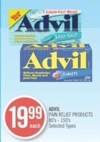 Advil Pain Refile Products 80's - 150's