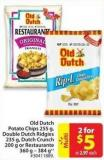 Old Dutch Potato Chips 255 g - Double Dutch Ridgies 235g - Dutch Crunch 200 g or Restaurante 360 g - 384 g