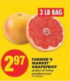 Farmer's Market Grapefruit - 3 Lb Bag
