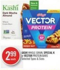 Kashi Whole Grain - Special K or Vector Protein Bars