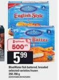 Bluewater Fish - Battered - Breaded - 350-700 g