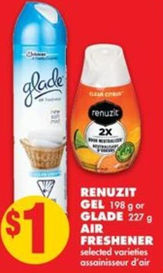 Renuzit Gel198 g or Glade227 g Air Freshener