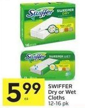 Swiffer Dry or Wet Cloths 12-16 Pk 599 Beauty.