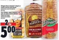 Villaggio Bread - Dempster's Bagels or Country Harvest Grain Breads