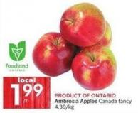 Product Of Ontario Ambrosia Apples Canada Fancy