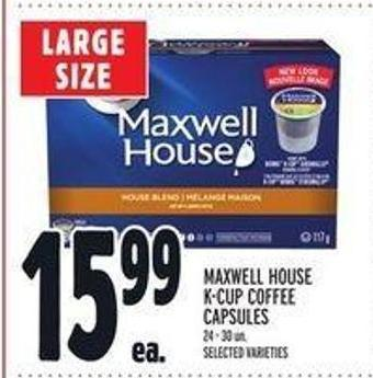Maxwell House K-cup Coffee Capsules
