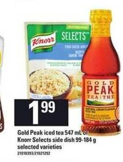 Gold Peak Iced Tea 547 mL Or Knorr Selects Side Dish - 99-184 g
